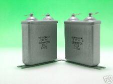2x MBGCH / МБГЧ 0.5uF 500V Russian PiO Paper in Oil Audio Capacitors 0,5uF 0,5kV