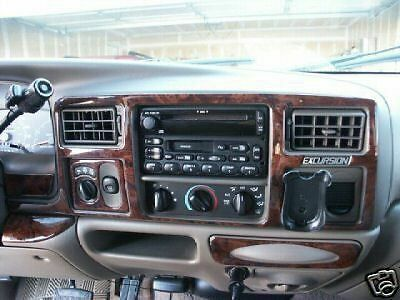 FORD EXCURSION XLT INTERIOR WOOD DASH TRIM KIT SET 2000 2001 2002 2003