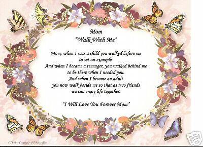 PRECIOUS MOM Poem Personalized Name Motherhood Print