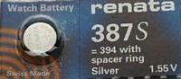 BULOVA ACCUTRON Calibers 214//218 Tuning Fork SWISS RENATA Battery # 387S (387)