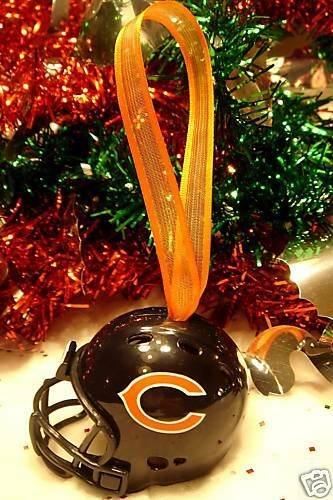 CHRISTMAS BELL FOOTBALL HELMET ORNAMENT CHICAGO BEARS | eBay