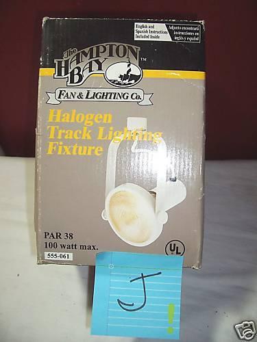 NIB HAMPTON BAY HALOGEN TRACK LIGHTING FIXTURE PAR 38