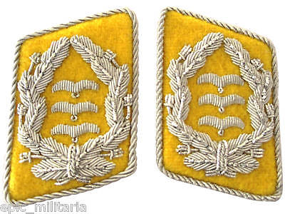 Luftwaffe Flieger Division Oberst Collar Tabs - Yellow WW2 Repro Badge Patch New