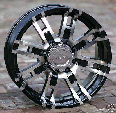 17 inch Black Helo 835 Wheels Rims Ford 8 Lug