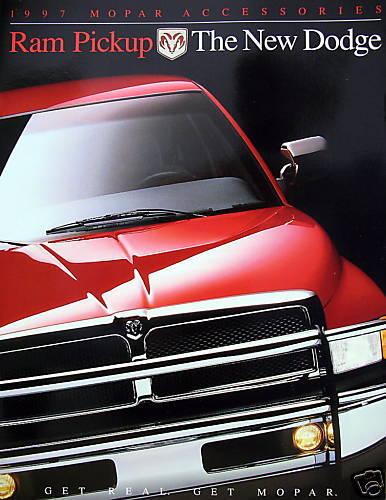 1997 Dodge Ram pickup truck Accesories brochure