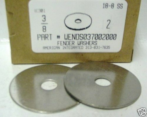 "3/8x2"" Fender Washer 18-8 Stainless Steel (4)"