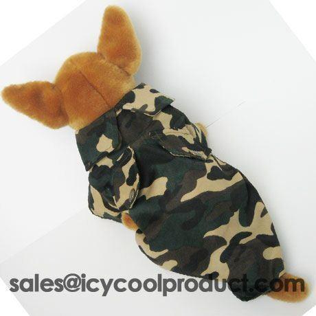 Camo Shirt jacket pet dog clothes Chihuahua APPAREL M